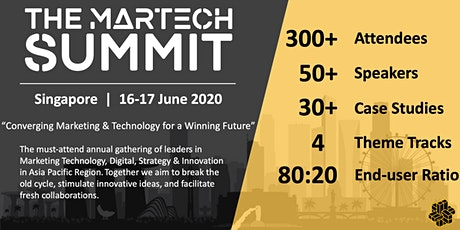 The MarTech Summit Singapore tickets