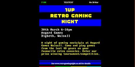 1UP Retro Gaming Night at Asgard Games Walsall tickets