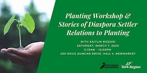Good Food Speaker Series: Planting Workshop