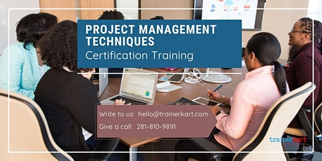 Project Management Techniques Certification Training in Lachine, PE tickets