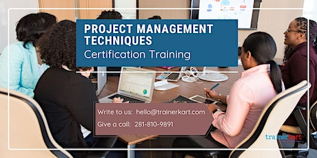 Project Management Techniques Certification Training in Souris, PE tickets
