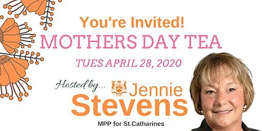 Mothers Day Tea with MPP Jennie Stevens