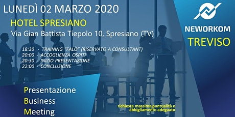 MEETING PRESENTAZIONE BUSINESS - NEWORKOM COMMUNITY - SPRESIANO (TV) biglietti