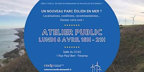 Atelier public Fécamp : un nouveau parc éolien en Manche ? billets