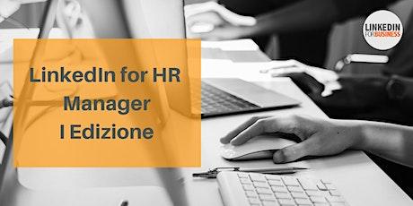 LinkedIn for HR Manager II Edizione biglietti