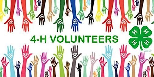 Summer/Fall 4-H Volunteer Opportunities
