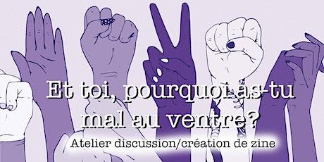Atelier de création de fanzine collectif sur le féminisme billets