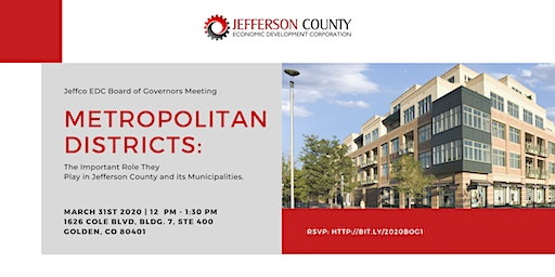Jeffco EDC Board of Governors: Metropolitan Districts
