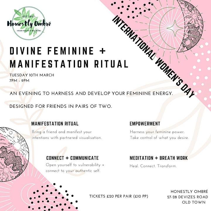 Divine Feminine + Manifestation Ritual for International Women's Day image