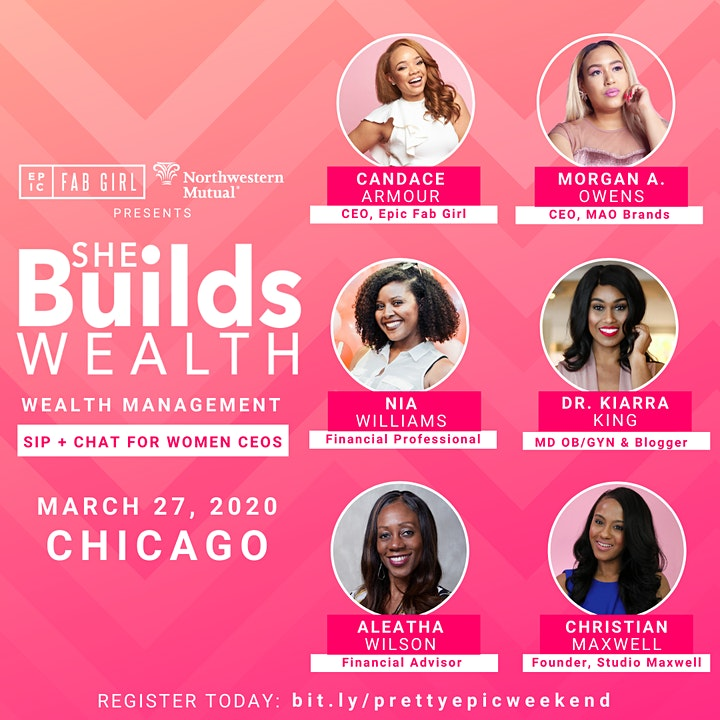 She Builds Wealth: Wealth Management Sip + Chat for Women Entrepreneurs image