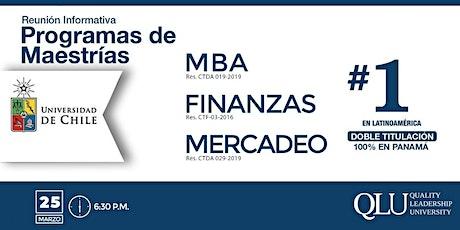 Reunión Informativa - Maestrías de Doble Titulación con la Universidad de Chile boletos