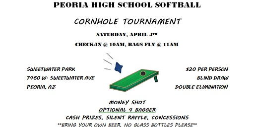 Cornhole Tournament benefiting Lady Panthers Softball