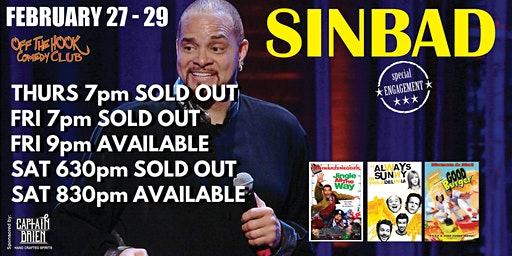 Comedian SINBAD Live at Off The Hook Comedy Club Naples, Florida