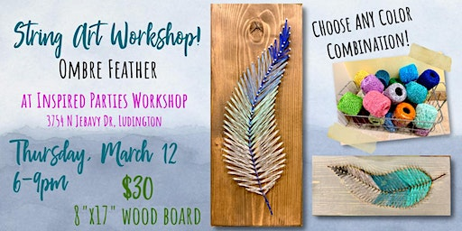 String Art Workshop at Inspired Parties