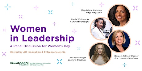 Algonquin College - IEC: Women in Leadership - A Panel Discussion tickets