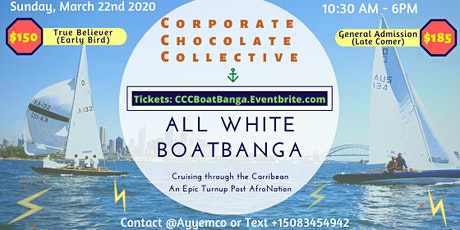 ALL WHITE BOATBANGA - Corporate Corporate x AfroNation Puerto Rico tickets