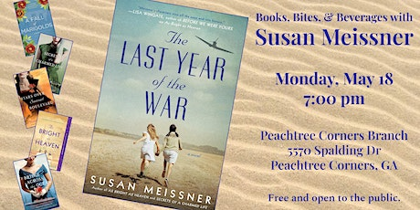 CANCELLED - Books, Bites, and Beverages with Susan Meissner tickets