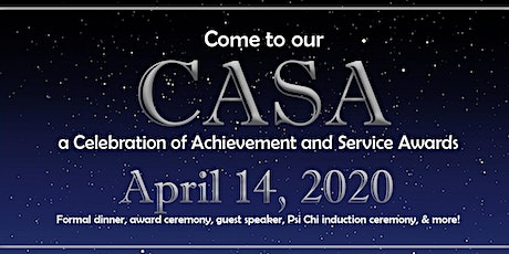 The CASA (a Celebration of Achievement and Service Awards) 2020 tickets