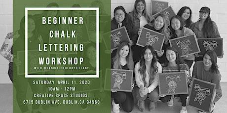 Beginner Chalk Lettering Workshop tickets