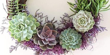 Succulent Spring Wreath Workshop tickets
