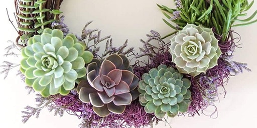 Succulent Spring Wreath Workshop