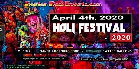 Holi Hai Fest - Color Dance - 2020 - 4/4 tickets