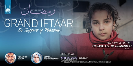 Grand Iftaar in Support of Palestine · Montreal tickets