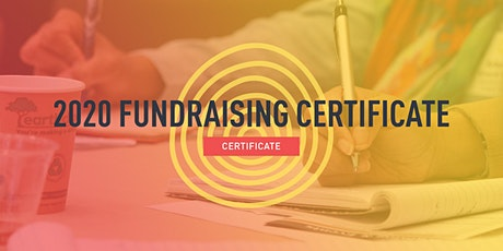 2020 Fundraising Certificate tickets