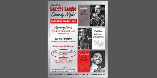 4th Annual Moon Area Lacrosse Lax of Laughs Comedy Night