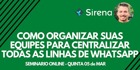 [Online] Como organizar sua empresa em WhatsApp para atender mais clientes? 05 março tickets