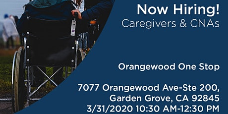 Assistance in Home Care Orangewood One Stop Hiring Event tickets