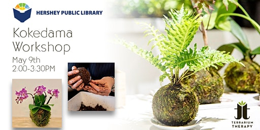 Orchid and Jade Kokedama Workshop at Hershey Library