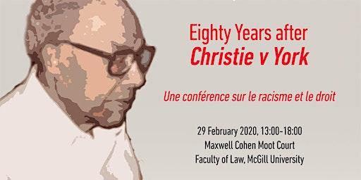 Black History Month 2020: Commemorating Christie v. York, 80 Years On