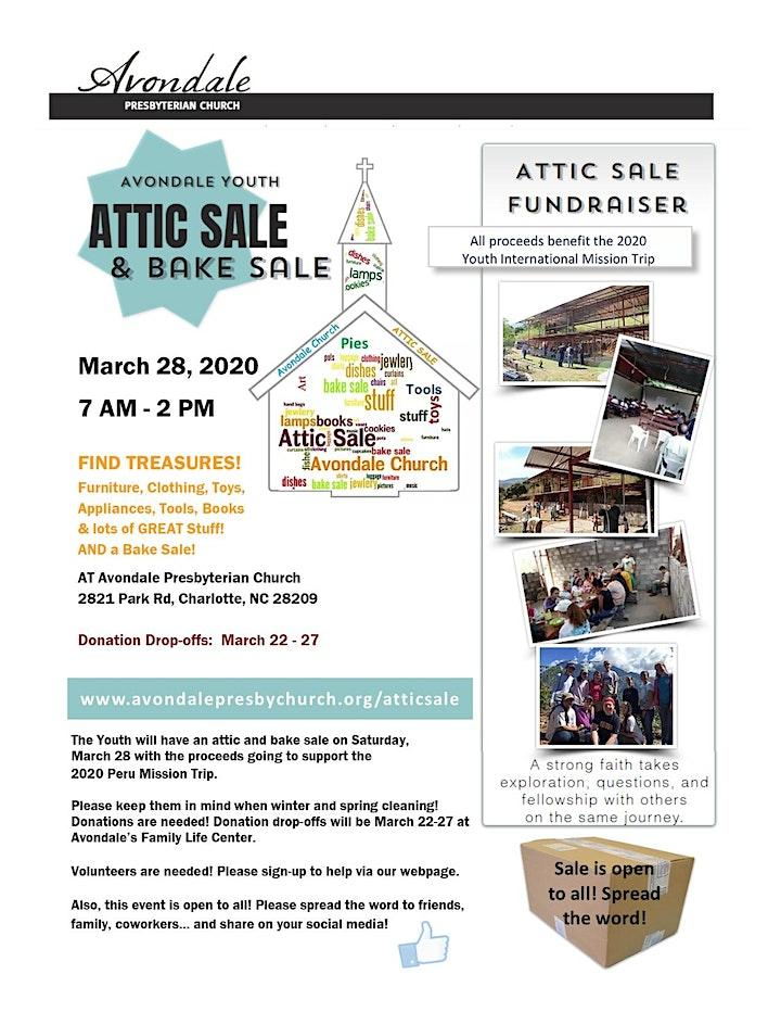Attic Sale & Bake Sale image