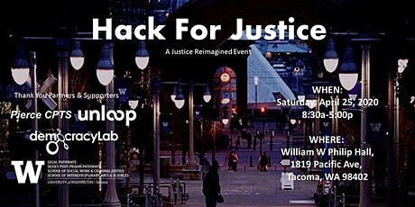Hack for Justice: A Justice Reimagined Event tickets