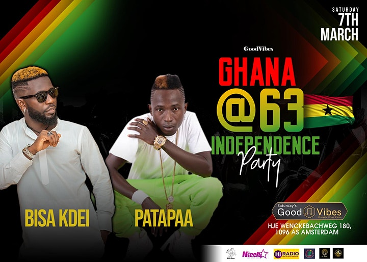 Afbeelding van Ghana Independence Party with Bisa Kdei & Patapaa