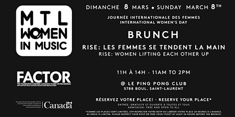 MTL Women in Music : Brunch Journée internationale des femmes tickets