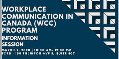 Workplace Communication in Canada Information Session tickets
