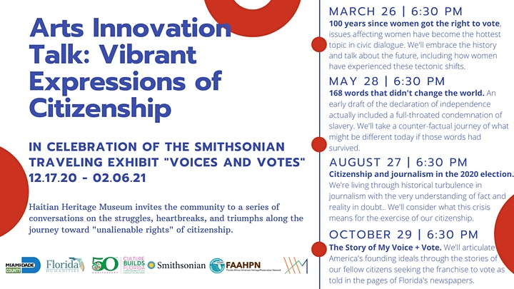 Haitian Heritage Museum: Arts Innovation Talk: Expression of Citizenship image