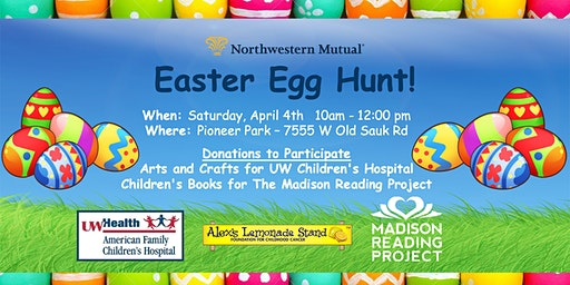 Easter Egg Hunt - AFCH & Madison Reading Project Donations