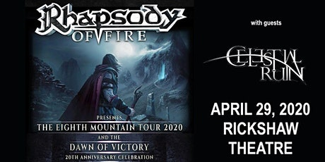 Rhapsody Of Fire with Celestial Ruin & guests tickets