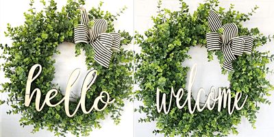 Hello or Welcome Spring Eucalyptus Wreath Workshop
