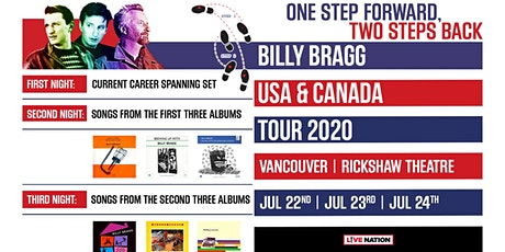 BILLY BRAGG - One Step Forward, Two Steps Back Tour with guests (NIGHT 1) tickets