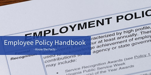 Know the Facts - The Employee Policy Handbook  -Let's Talk Business Series-