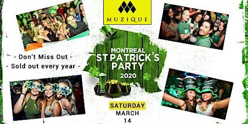 Montreal St. Patrick's Party 2020 @ Muzique // Saturday - March 14