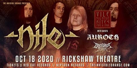 Nile with guests Auroch, Blackwater Burial tickets
