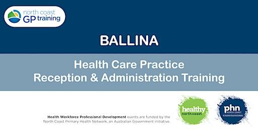 Ballina: Health Care Practice Reception & Administration Training