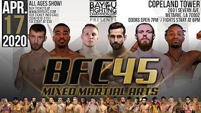 BFC 45   Battle of New Orleans   MMA Event - Mixed Martial Arts Metairie, LA tickets