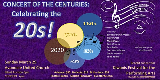 CONCERT OF THE CENTURIES: Celebrating the 20s!!