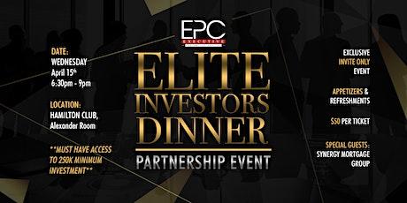 Elite Investors Dinner tickets